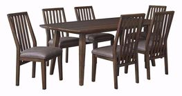 Kisper Rectangular Table with Six Chairs