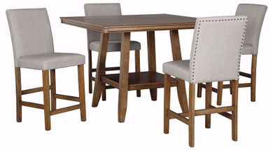Glennox Counter Table with Six Stools