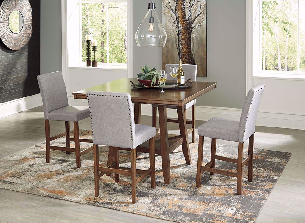 Picture of Glennox Counter Table with Six Stools