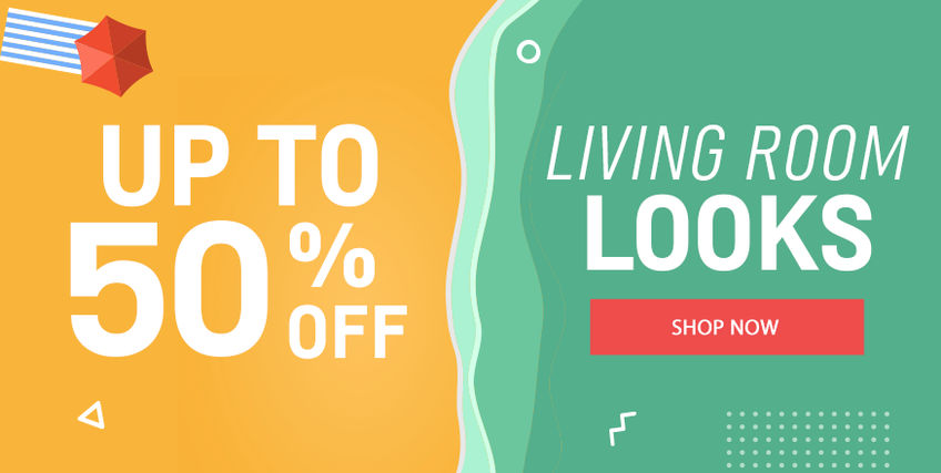 Up to 50% off Living Room Looks