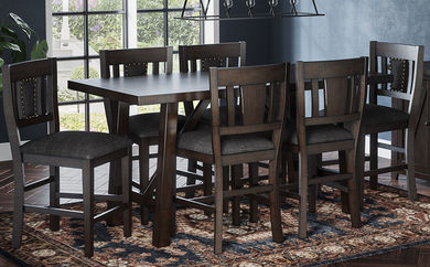 American Rustics Table and Six Stools