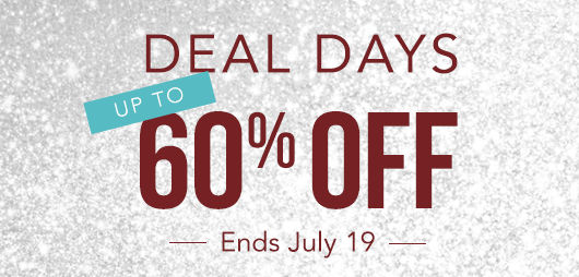 Deal Days Up to 60% off | Ends July 19
