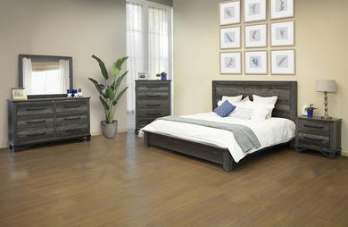 Loft Brown Queen Platform Bedroom Set