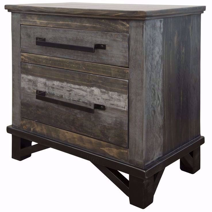 Picture of Loft Brown Two Drawer Nightstand