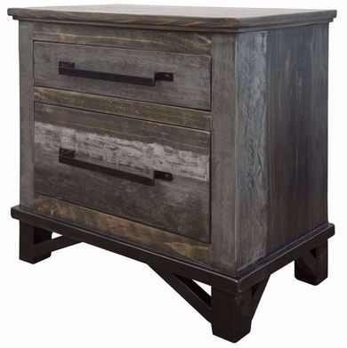 Loft Brown Two Drawer Nightstand