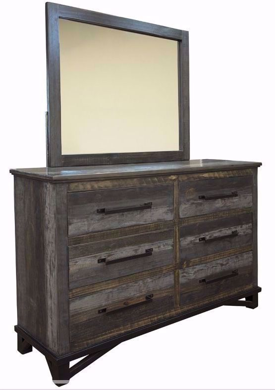 Picture of Loft Brown Dresser and Mirror