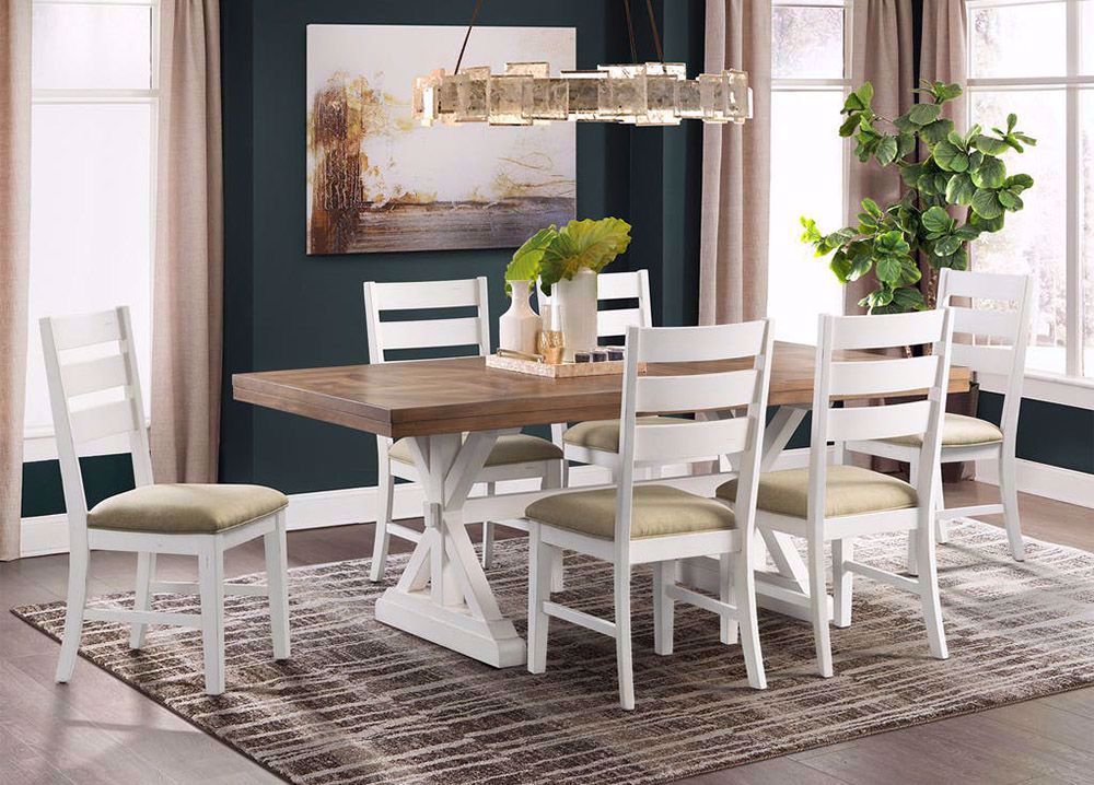 Picture of Park Creek Rectangular Dining Table with Six Chairs