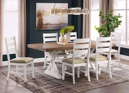 Park Creek Rectangular Dining Table with Four Chairs
