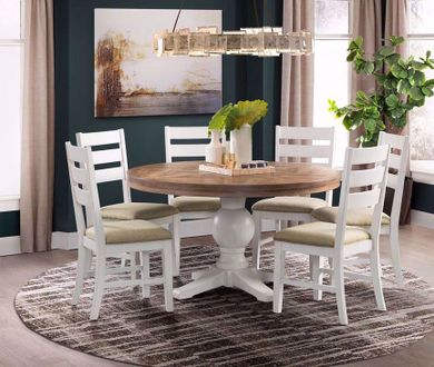 Park Creek Round Dining Table with Six Chairs