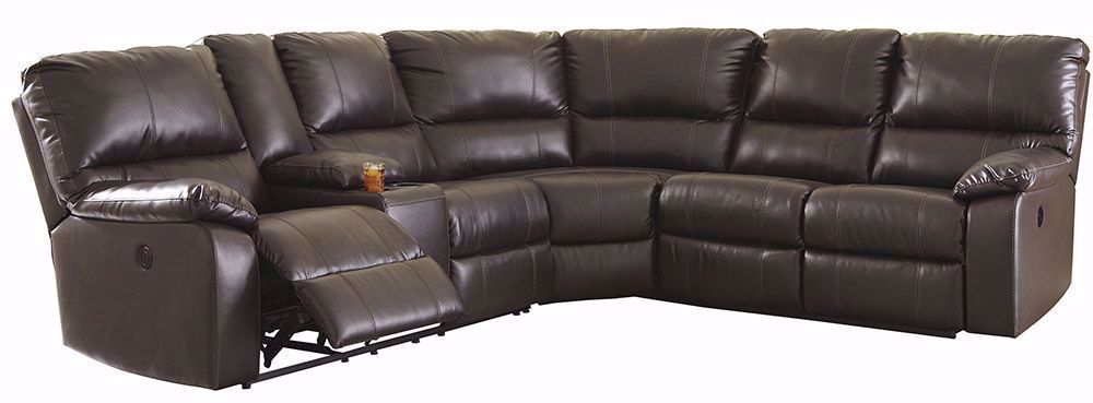 Picture of Warstein Chocolate Three Piece Power Sectional