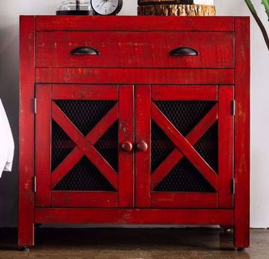 Simon Vila Red Accent Chest