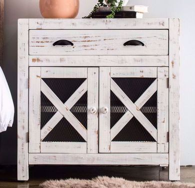 Simon Vila White Accent Chest
