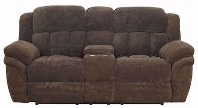 Santorini Conran Chocolate Reclining Loveseat