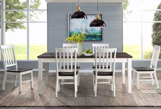 Picture of Kayla White and Grey Dining Table