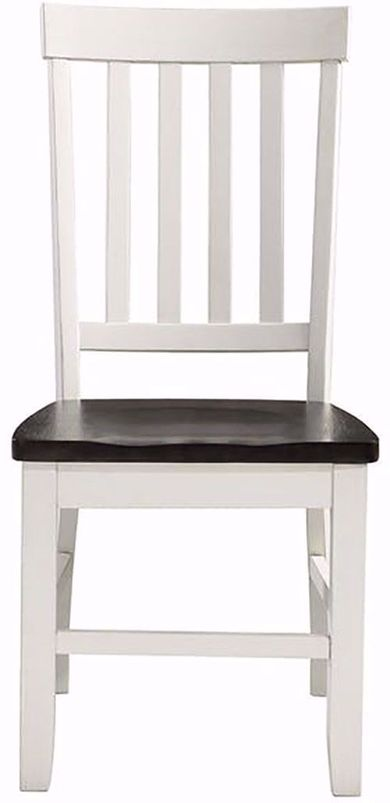 Kayla White and Grey Dining Side Chair