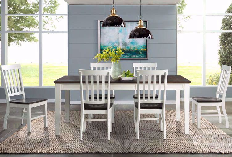 Picture of Kayla White and Grey Dining Side Chair