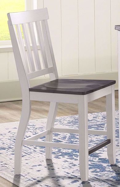 Kayla White and Grey Counter Stool