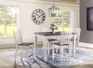 Kayla White and Grey Counter Table with Four Chairs
