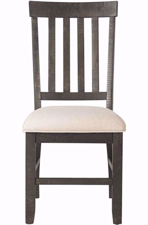 Picture of Stone Charcoal Slat Back Chair