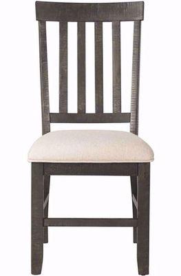 Stone Charcoal Slat Back Chair