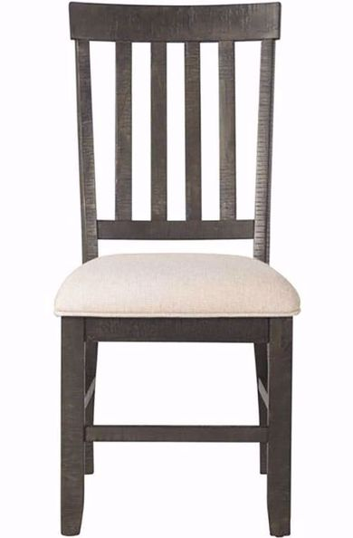 Stone Charcoal Slat Back Chair