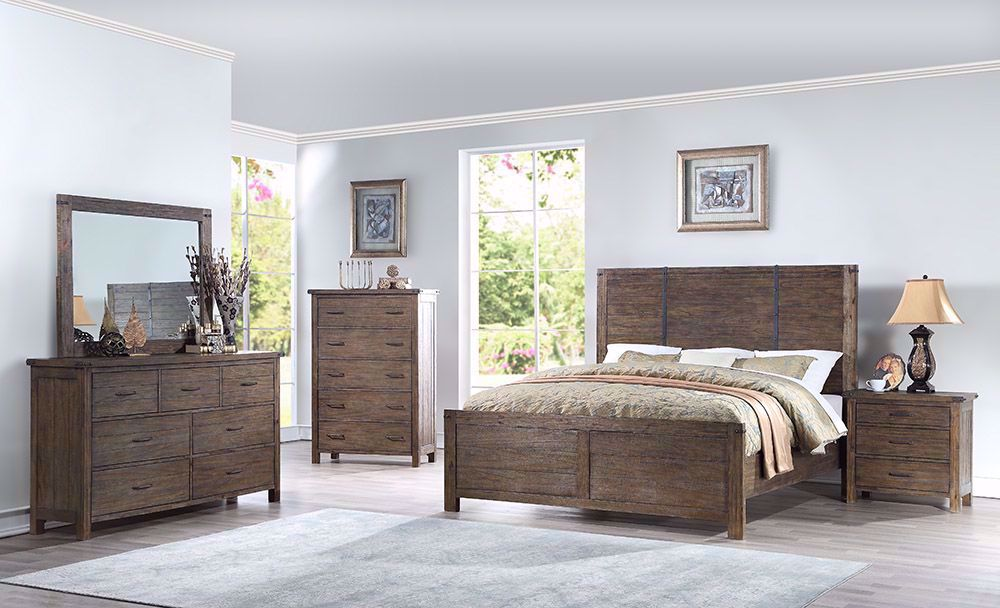 Picture of Galleon Walnut Queen Bed Set