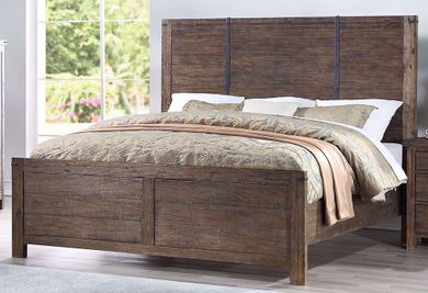 Galleon Walnut Queen Bed Set