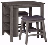 Caitbrook Counter Table with Two Stools