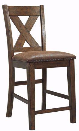 Chaleny Upholstered X-Back Stool