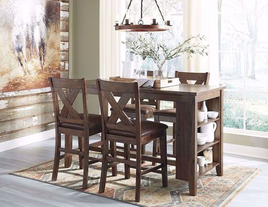 Picture of Chaleny Counter Table with Four Stools