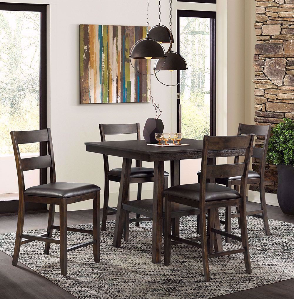Picture of Laredo Five Piece Counter Table with Four Stools