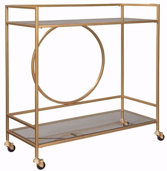 Picture of Jackford Gold Bar Cart