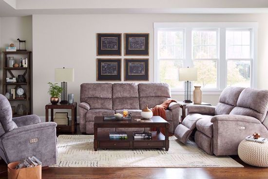 Picture of Brooks Mushroom Reclining Console Loveseat