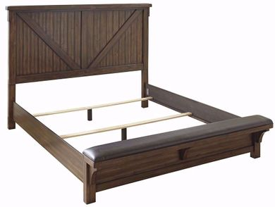 Lakeleigh King Upholstered Bench Bed Set