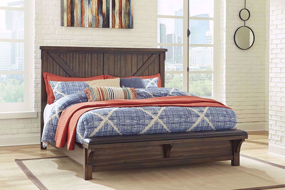 Picture of Lakeleigh King Upholstered Bench Bed Set