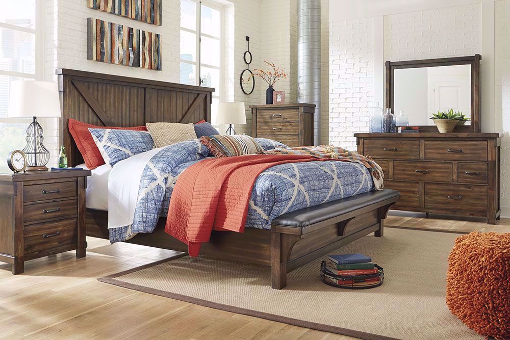 Picture of Lakeleigh Queen Upholstered Bench Bed Set