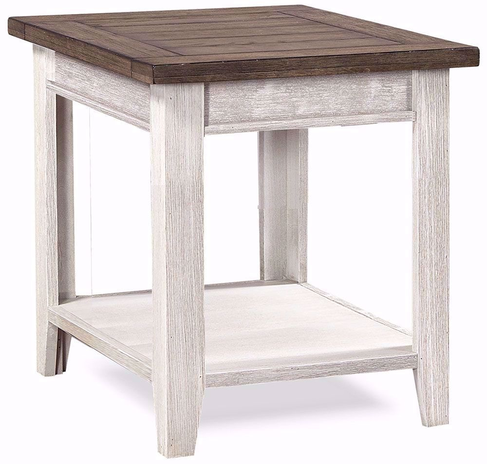 Picture of Eastport Driftwood White End Table