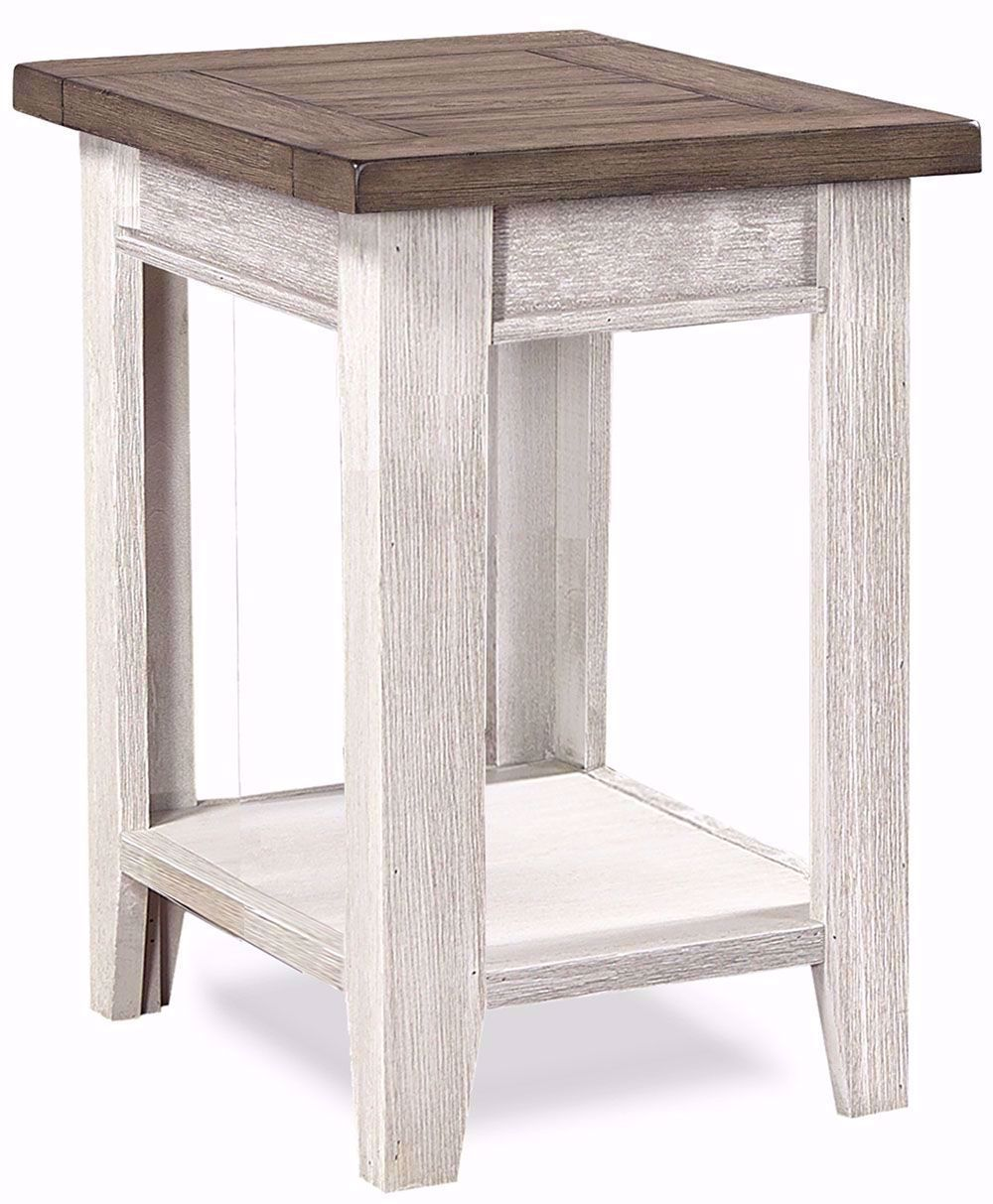 Picture of Eastport Driftwood White Chairside Table