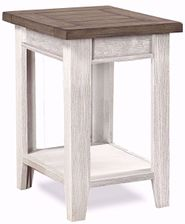 Eastport Driftwood White Chairside Table
