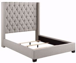 Westerly Light Grey King Upholstered Bed Set