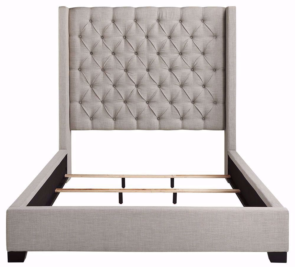 Picture of Westerly Light Grey Queen Upholstered Bed Set