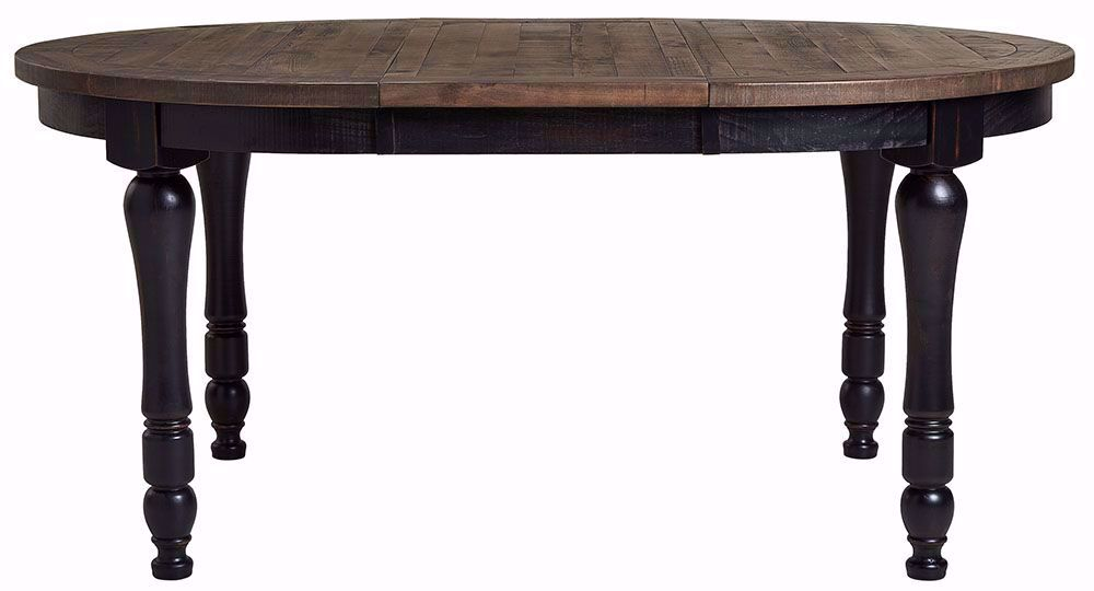 Picture of Madison Black Round Leaf Table Only