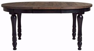 Madison Black Round Leaf Table Only