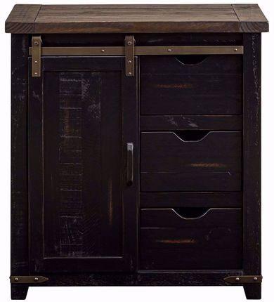 Madison 32 Inch Black Accent Cabinet