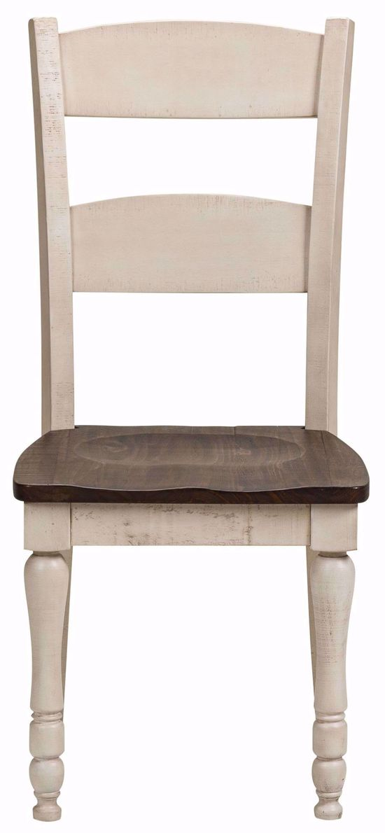 Picture of Madison County White Ladderback Chair