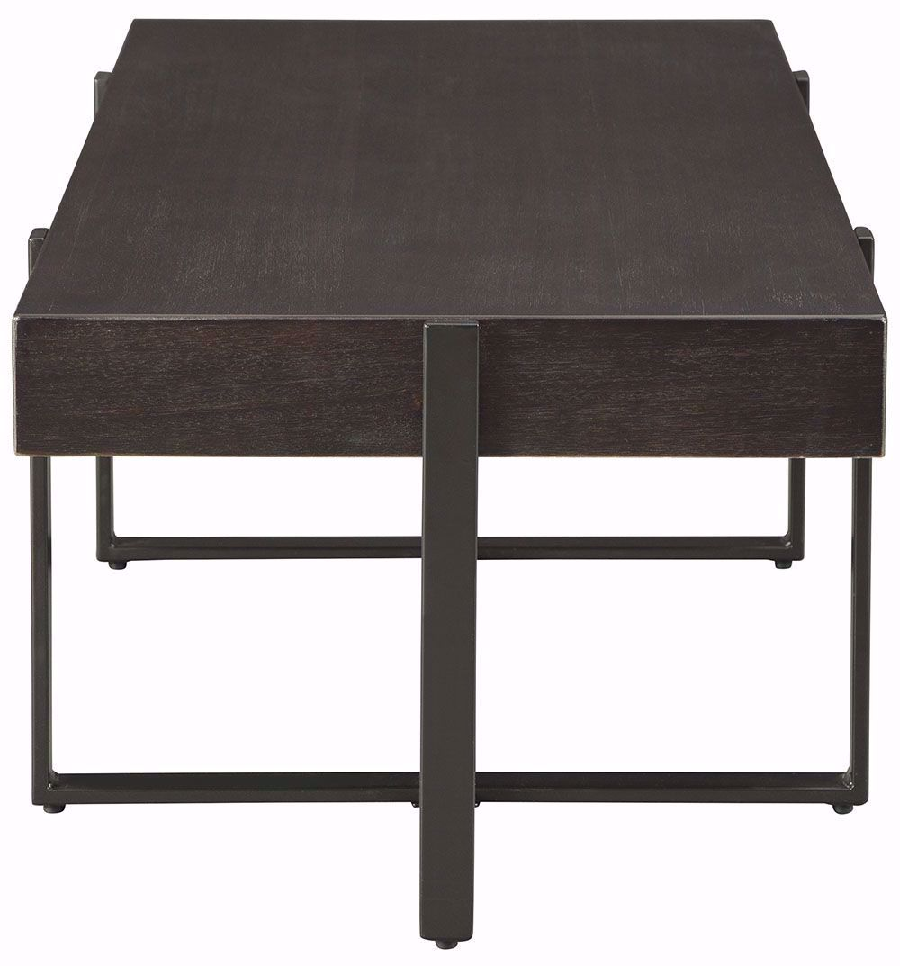 Picture of Drewing Dark Brown Rectangular Cocktail Table
