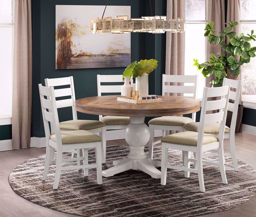 Picture of Park Creek Round Dining Table with Four Chairs
