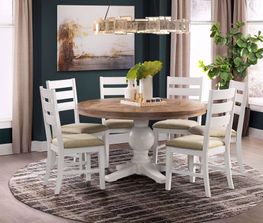 Park Creek Round Dining Table with Four Chairs