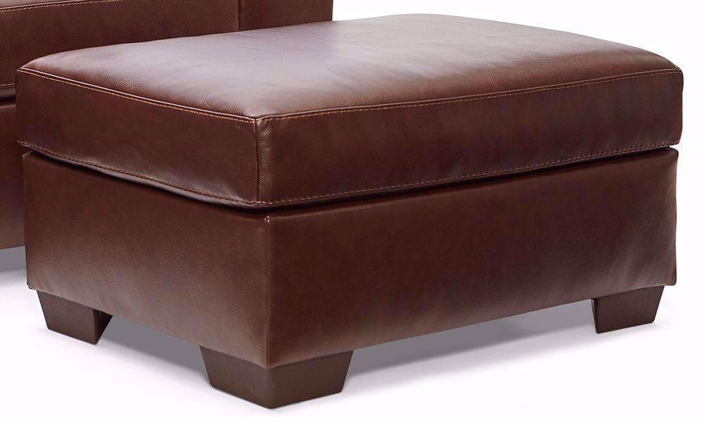 Picture of Soft Touch Chestnut Ottoman