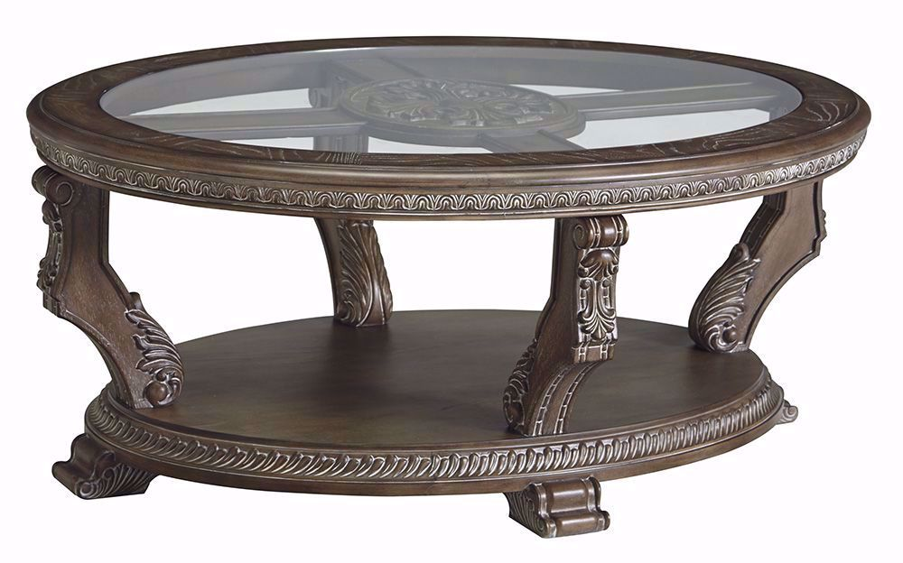 Picture of Charmond Brown Oval Cocktail Table